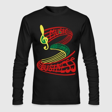 MUSIC IS MY BUSINESS reggae colours - Men's Long Sleeve T-Shirt by Next Level