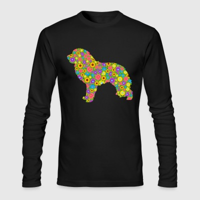 Great Pyrenees Flower Shirt - Men's Long Sleeve T-Shirt by Next Level
