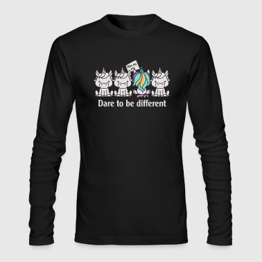 Dare to be Different Unicorn - Men's Long Sleeve T-Shirt by Next Level