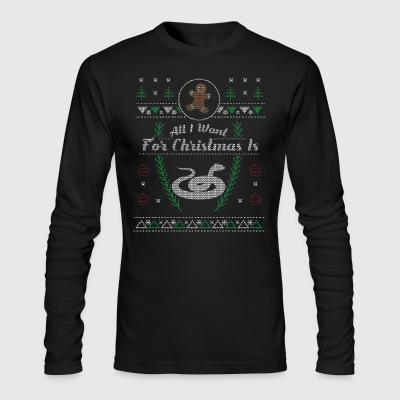 Pet Snake Christmas Ugly Shirt - Men's Long Sleeve T-Shirt by Next Level