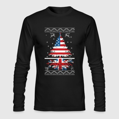 American with British root - Men's Long Sleeve T-Shirt by Next Level