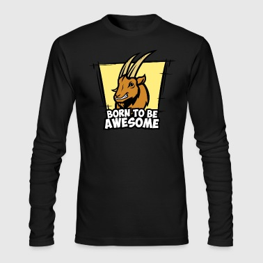Capricorn - Bortn To Be Awesome - Men's Long Sleeve T-Shirt by Next Level