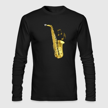 Saxophone with music notes - Men's Long Sleeve T-Shirt by Next Level
