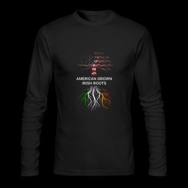 american grow irish root - Men's Long Sleeve T-Shirt by Next Level