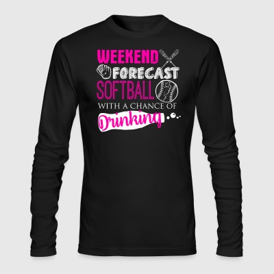 Weekend Forecast Softball Shirt - Men's Long Sleeve T-Shirt by Next Level