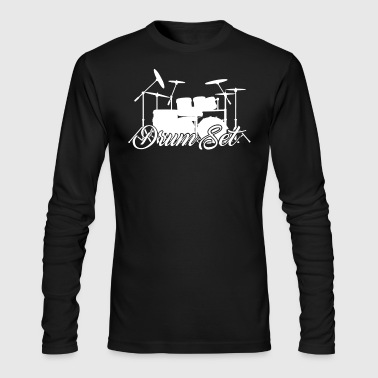 Drum Set Shirts - Men's Long Sleeve T-Shirt by Next Level