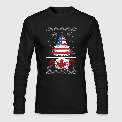 American with Canadian root - Men's Long Sleeve T-Shirt by Next Level