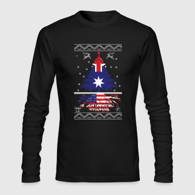 Australian with American root - Men's Long Sleeve T-Shirt by Next Level