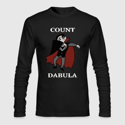 Count Dabula Dracula Halloween Dabbing Funny - Men's Long Sleeve T-Shirt by Next Level