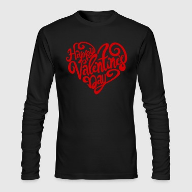 Happy Valentine's Day - Men's Long Sleeve T-Shirt by Next Level