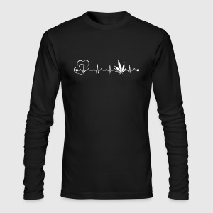 Weed Heartbeat Shirt - Men's Long Sleeve T-Shirt by Next Level