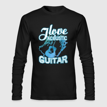 Love Acoustic Guitar Shirt - Men's Long Sleeve T-Shirt by Next Level
