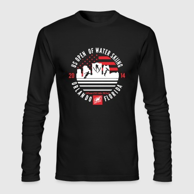 Water Skiing Shirt - Men's Long Sleeve T-Shirt by Next Level