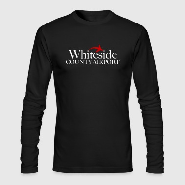 Whiteside County Airport White Text - Men's Long Sleeve T-Shirt by Next Level