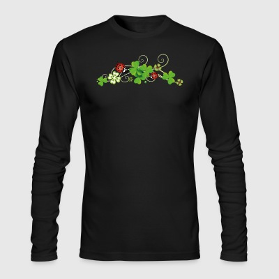Four leaf clover design. New years eve party. - Men's Long Sleeve T-Shirt by Next Level