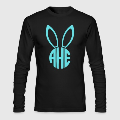 Easter Bunny Monogram - Men's Long Sleeve T-Shirt by Next Level