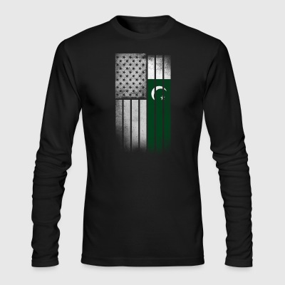 Pakistani American Flag - Men's Long Sleeve T-Shirt by Next Level