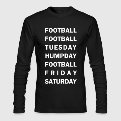 Football Tee Shirt - Men's Long Sleeve T-Shirt by Next Level