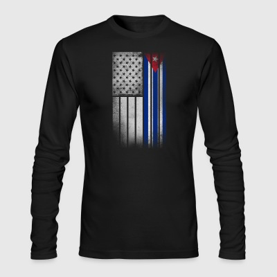 Cuban American Flag - Half Cuban Half American - Men's Long Sleeve T-Shirt by Next Level