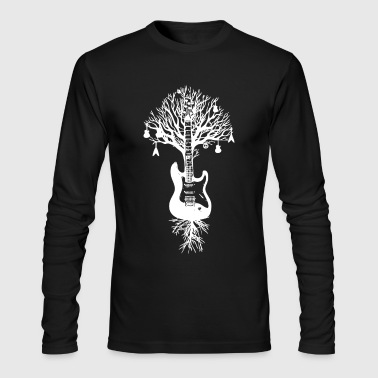 Nature Guitar White Tree Music Banksy Art - Men's Long Sleeve T-Shirt by Next Level