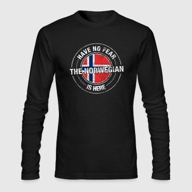 Have No Fear The Norwegian Is Here Shirt - Men's Long Sleeve T-Shirt by Next Level