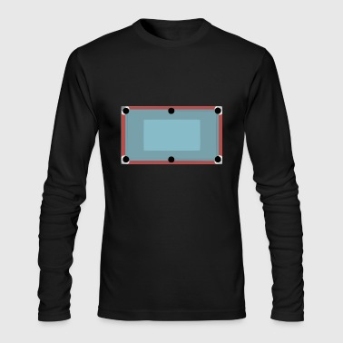 pool table - Men's Long Sleeve T-Shirt by Next Level