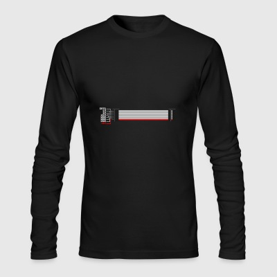 Red Stripe Down! #TTNM - Men's Long Sleeve T-Shirt by Next Level