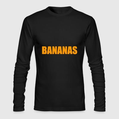 Bananas Yellow - Men's Long Sleeve T-Shirt by Next Level
