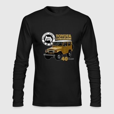 MUSTARD FJ40 WITH RETRO LOGO - Men's Long Sleeve T-Shirt by Next Level