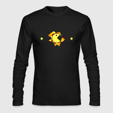 Pac-Man Design - Men's Long Sleeve T-Shirt by Next Level