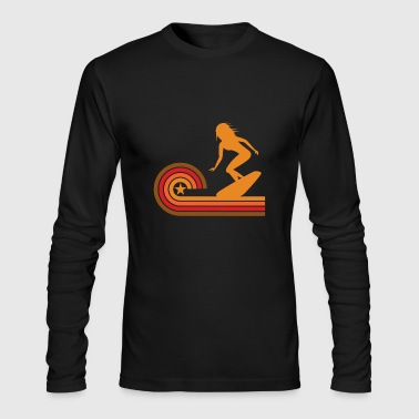 Retro Style Surfer Vintage Surfing - Men's Long Sleeve T-Shirt by Next Level