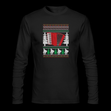 Accordion Ugly Christmas Sweater Band T-Shirt - Men's Long Sleeve T-Shirt by Next Level