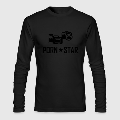 Porn star media video camera film - Men's Long Sleeve T-Shirt by Next Level