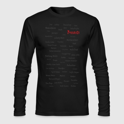 Breasts - Men's Long Sleeve T-Shirt by Next Level