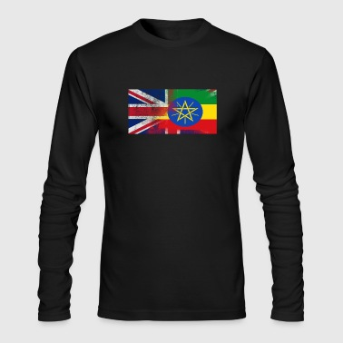 British Ethiopian Half Ethiopia Half UK Flag - Men's Long Sleeve T-Shirt by Next Level