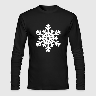 snowflake vector white - Men's Long Sleeve T-Shirt by Next Level