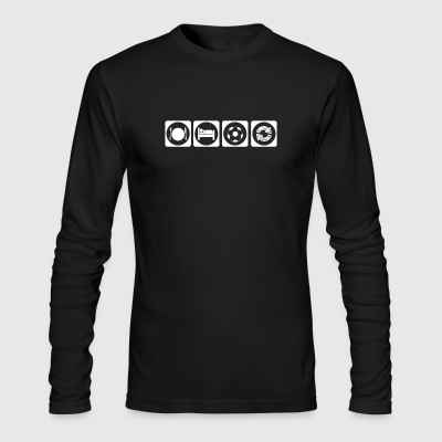 geschenk eat sleep repeat fussball ultras stuermer - Men's Long Sleeve T-Shirt by Next Level