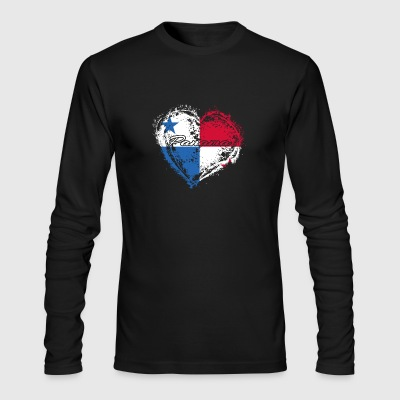 HOME ROOTS COUNTRY GIFT LOVE Panama - Men's Long Sleeve T-Shirt by Next Level