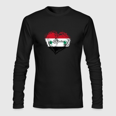 HOME ROOTS COUNTRY GIFT LOVE Syria - Men's Long Sleeve T-Shirt by Next Level