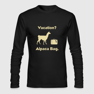 Vacation Alpaca Bag - Men's Long Sleeve T-Shirt by Next Level