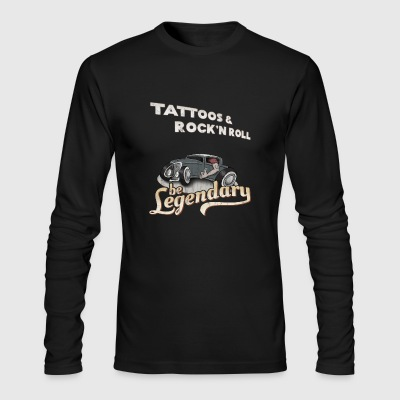 Tattoos & Rock'n Roll be legendary 50s style gift - Men's Long Sleeve T-Shirt by Next Level