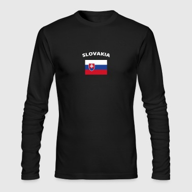 ich liebe home heimat love wurzeln SLOVAKIA - Men's Long Sleeve T-Shirt by Next Level