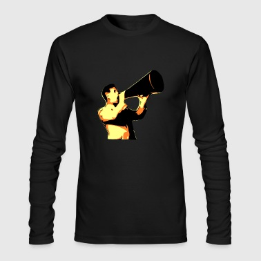 man yelling - Men's Long Sleeve T-Shirt by Next Level