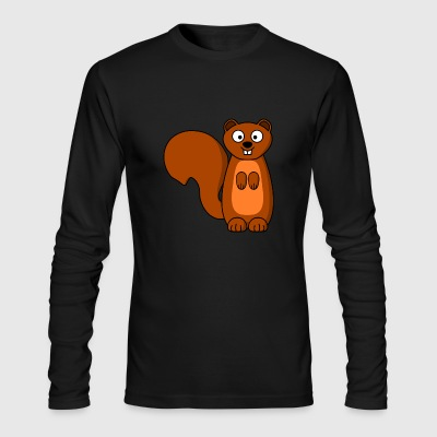 squirrel eichhoernchen animal tiere - Men's Long Sleeve T-Shirt by Next Level