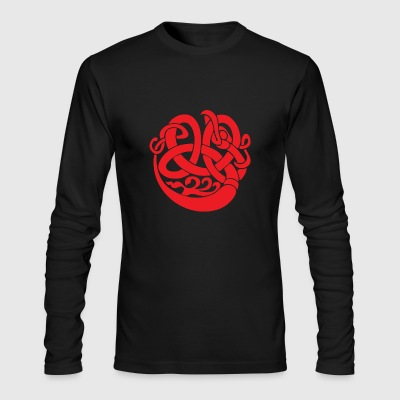 CELTIC ORNAMENT RED - Men's Long Sleeve T-Shirt by Next Level