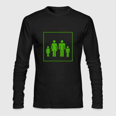 family - Men's Long Sleeve T-Shirt by Next Level