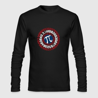 Super Math Teacher Shirt Captain Pi Superhero - Men's Long Sleeve T-Shirt by Next Level