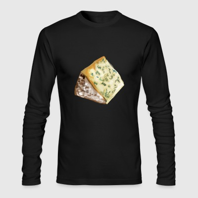 kaese cheese pizza sandwich maus mouse food100 - Men's Long Sleeve T-Shirt by Next Level