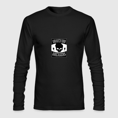Graveyard Greaser Flag Logo - Men's Long Sleeve T-Shirt by Next Level