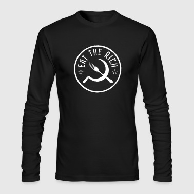 Eat The Rich - Revolution Wear - Men's Long Sleeve T-Shirt by Next Level